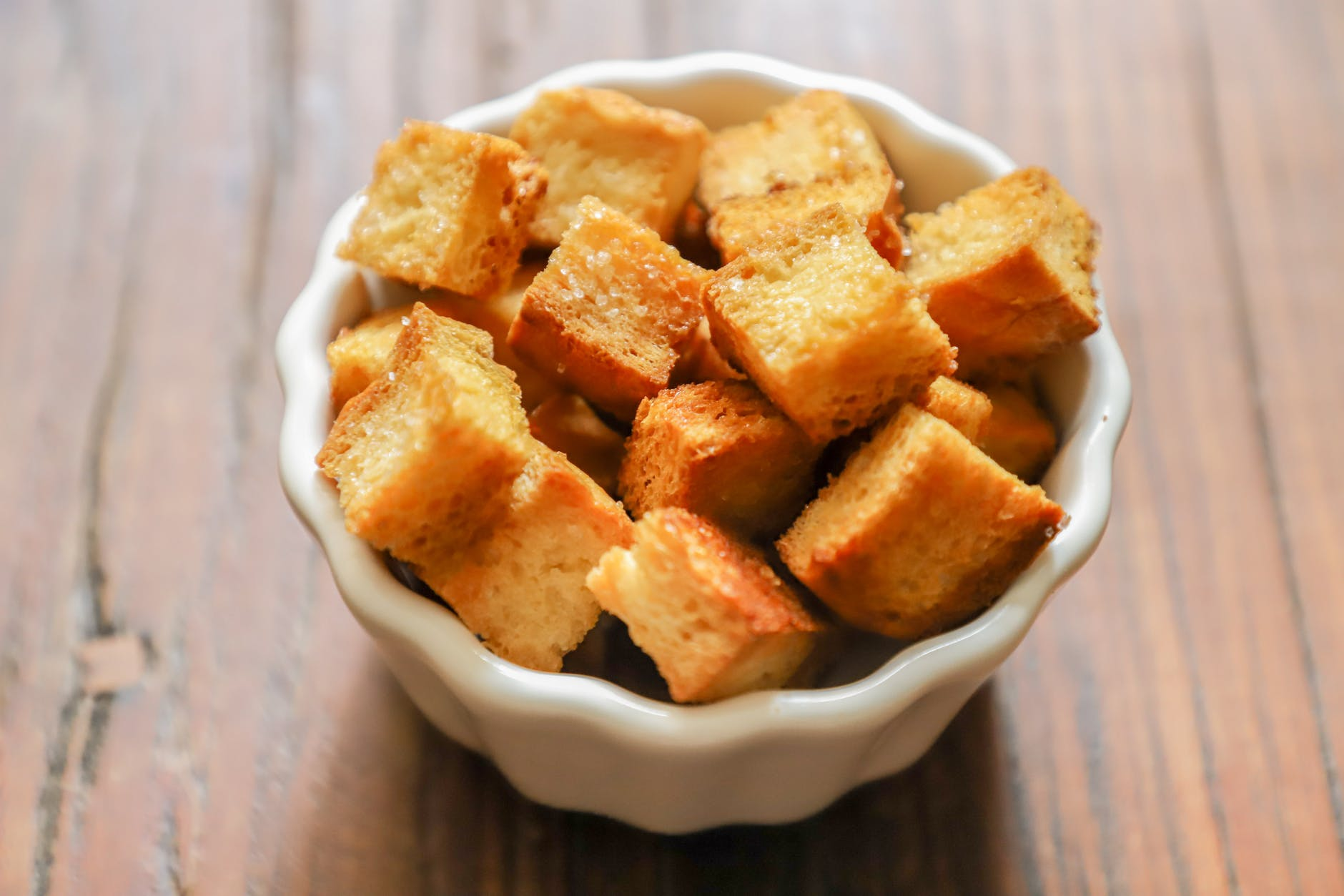 tofu on white bowl